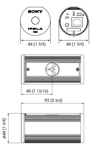 SONY SNC-CH210 rozmery