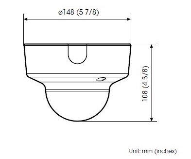 SONY SNC-EM600 rozměry