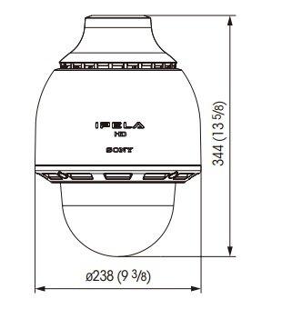 SONY SNC-RH164 rozmery