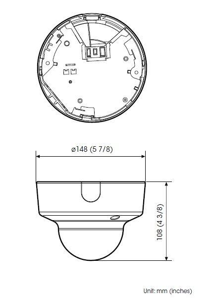 SONY SNC-VM600 rozměry