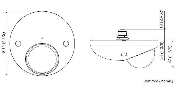 SONY SNC-XM636 rozměry
