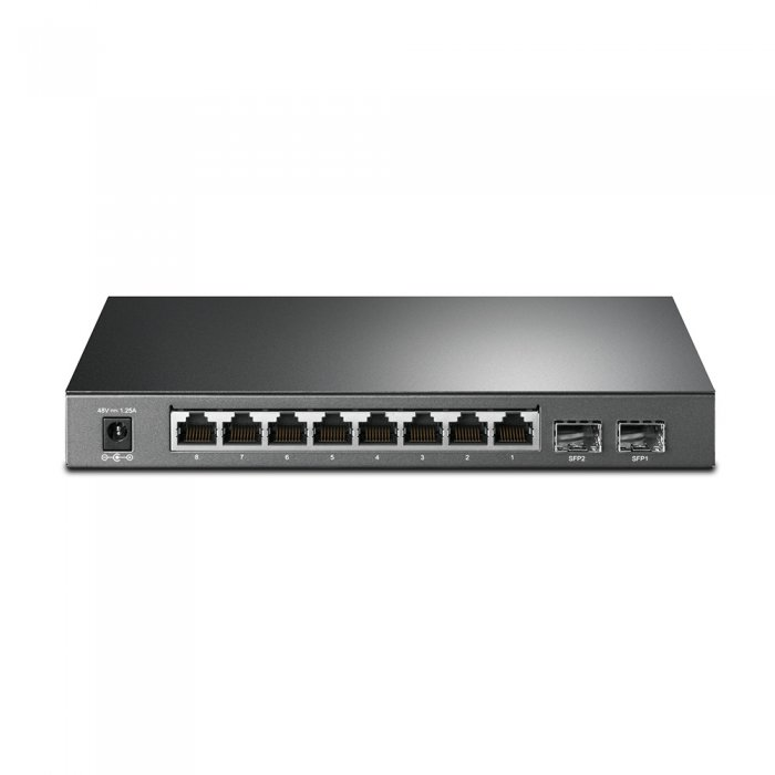 PoE switch TP-LINK T1500G-10PS detail porty