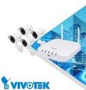 Venkovní bezdrátový kamerový systém VIVOTEK 4x IB8360-W + ND8312W