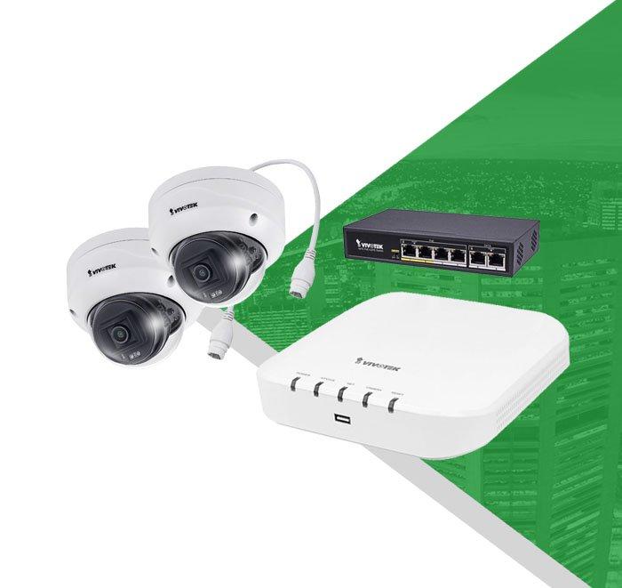Venkovní kamerový systém VIVOTEK 2x FD9360-HF2 + ND9312
