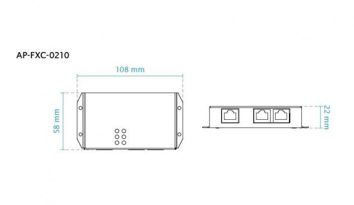 PoE extender VIVOTEK AP-FXC-0210 rozměry