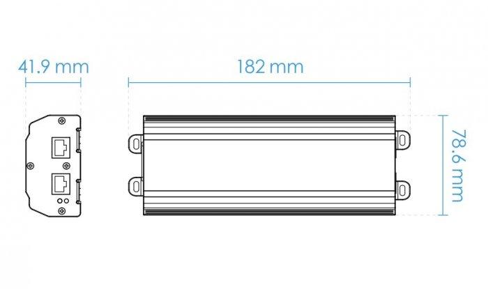HiPoE injektor VIVOTEK AP-GIC-011A-095 rozměry