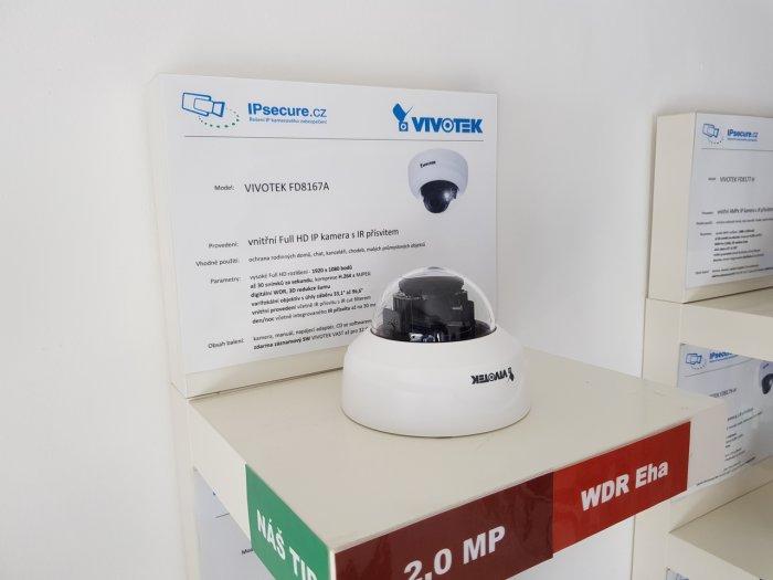 Vnitřní IP kamera VIVOTEK FD8167A na prodejně