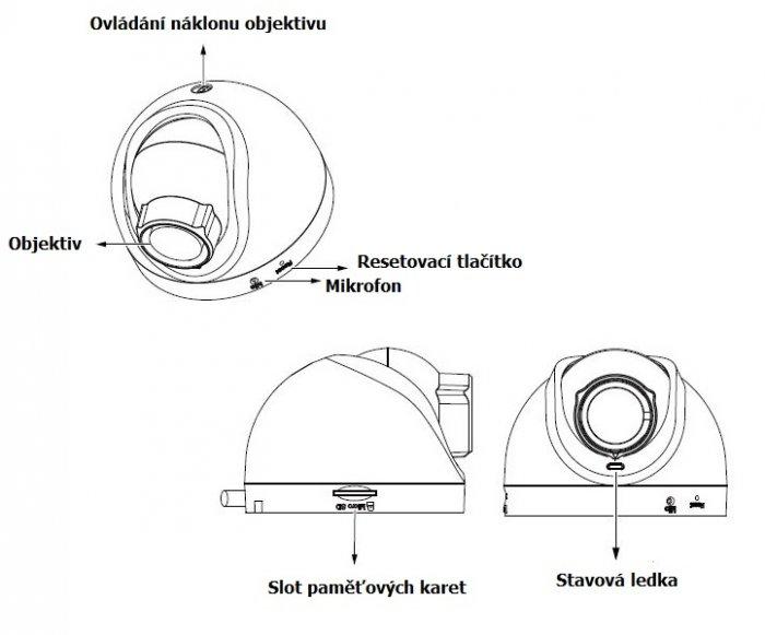 Vnitřní IP kamera VIVOTEK FD8168 popis