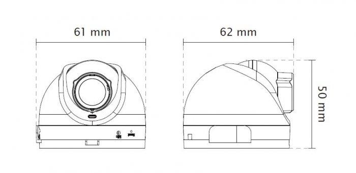 Vnitřní IP kamera VIVOTEK FD8168 rozměry