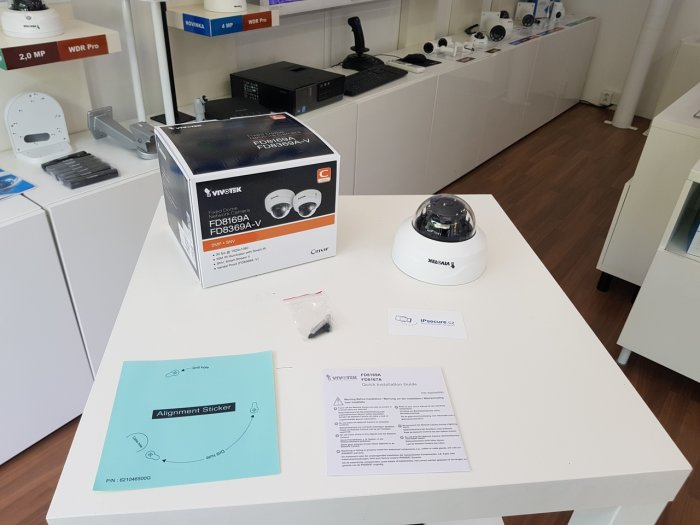 Vnitřní IP kamera VIVOTEK FD8169A balení