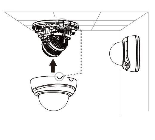 Vnitřní IP kamera VIVOTEK FD816BA-HF2 instalace na stěnu i strop