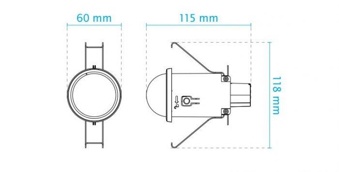 VIVOTEK FD816CA-HF2 rozměry
