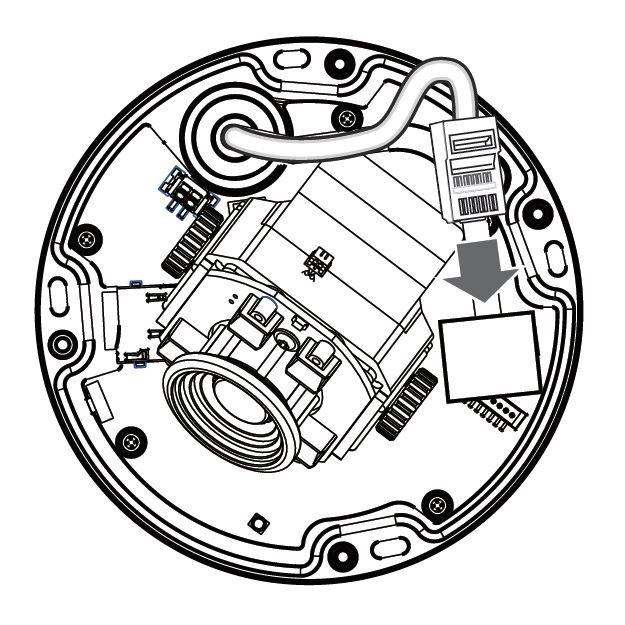 VIVOTEK FD8366-VF3 zapojení kabelu s RJ-45