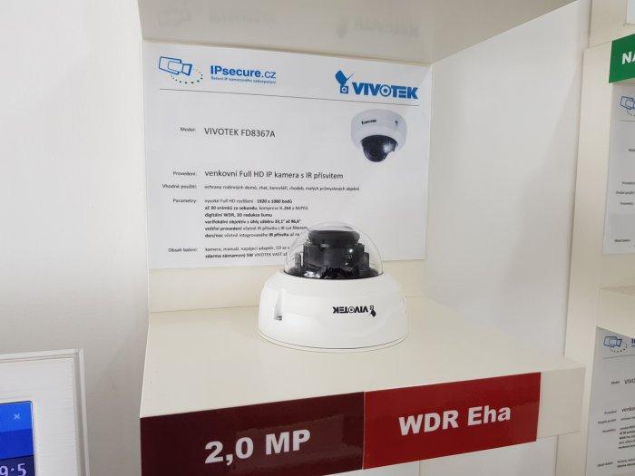 Venkovní IP kamera VIVOTEK FD8367A-V na prodejně