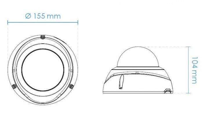 Venkovní IP kamera VIVOTEK FD8377-EHTV rozměry