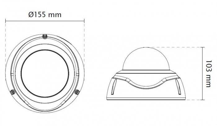 Venkovní IP kamera VIVOTEK FD8382-TV rozměry