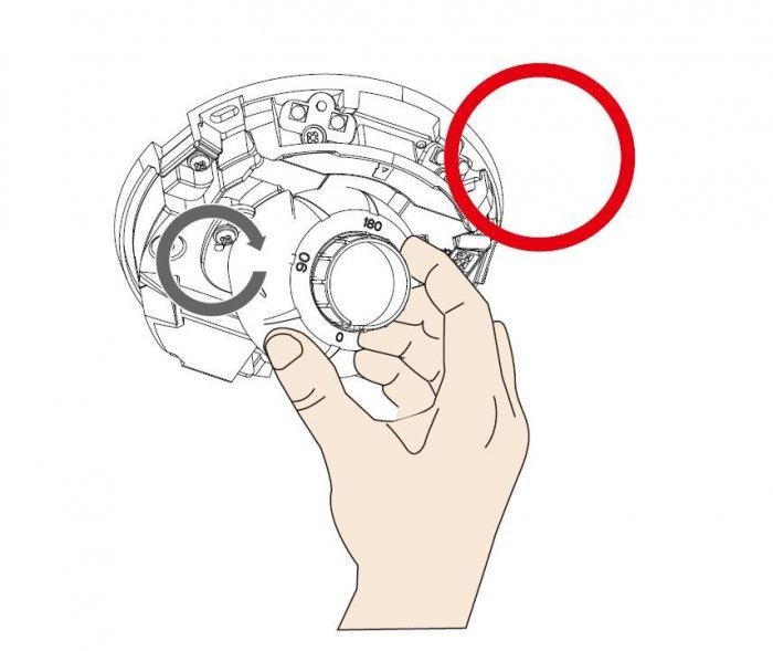 Vnitřní IP kamera VIVOTEK FD9166-HN otočení obrazu o 180°