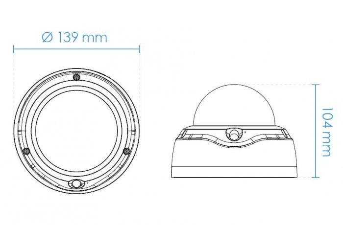 Vnitřní IP kamera VIVOTEK FD9187-H rozměry