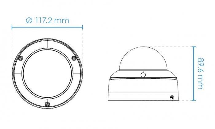 Venkovní IP kamera VIVOTEK FD9360-HF2 rozměry