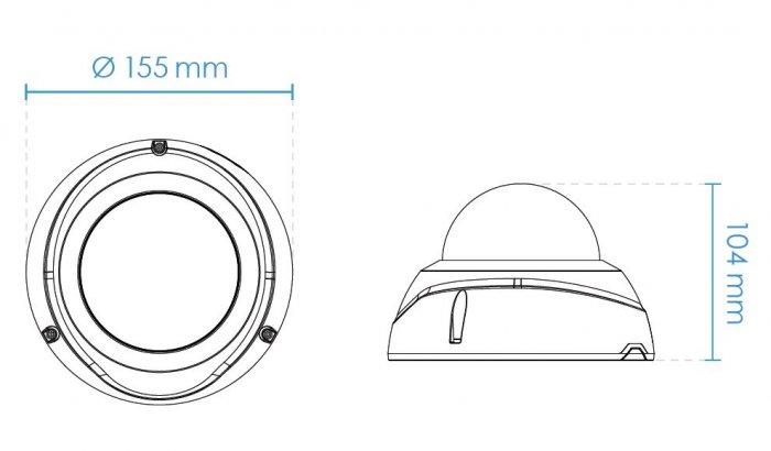 Venkovní IP kamera VIVOTEK FD9367-EHTV rozměry