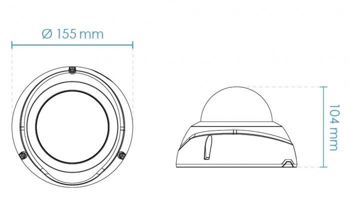Venkovní IP kamera VIVOTEK FD9367-HV rozměry