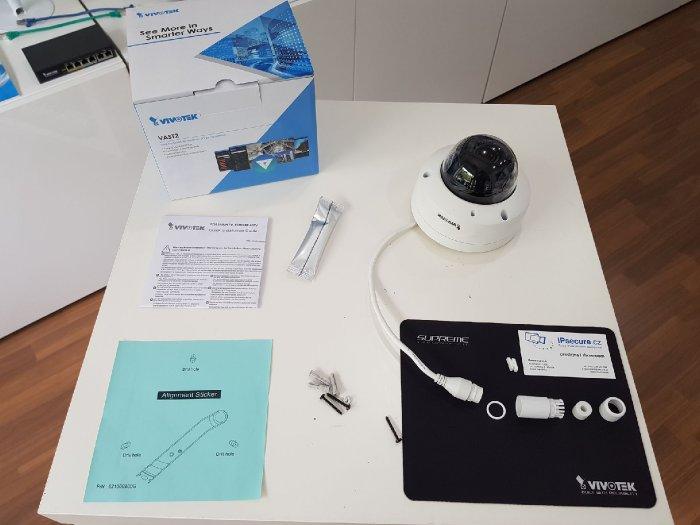 Venkovní bezpečnostní IP kamera VIVOTEK FD9368-HTV obsah balení