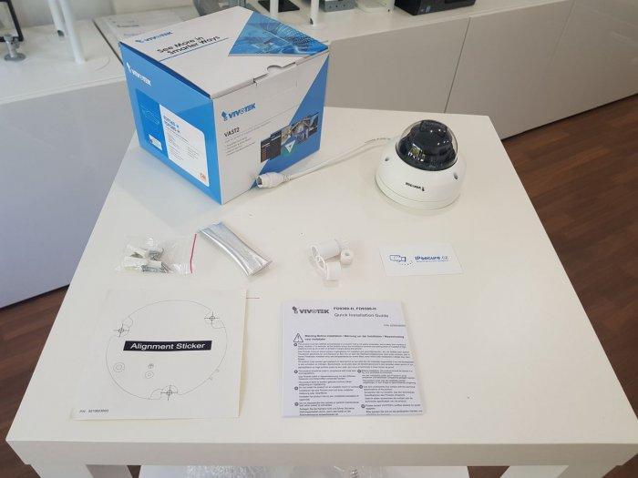 Venkovní IP kamera VIVOTEK FD9380-HF2 obsah balení
