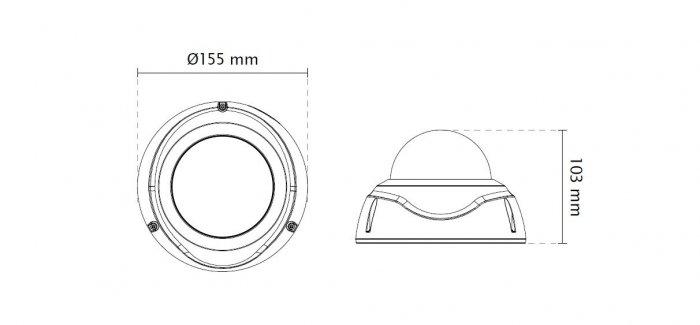 VIVOTEK FD9381-EHTV rozměry
