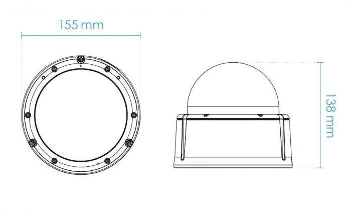 Venkovní IP kamera VIVOTEK FD9391-EHTV rozměry