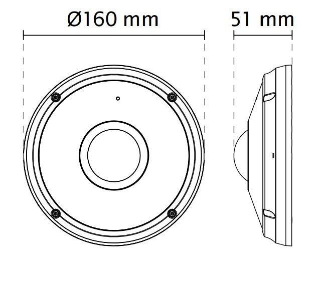 VIVOTEK FE8391-V rozměry