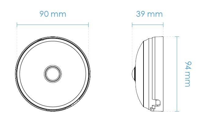 Vnitřní IP kamera VIVOTEK FE9180-H rozměry