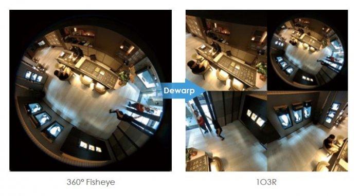 Vnitřní IP kamera VIVOTEK FE9180-H funkce Dewarp