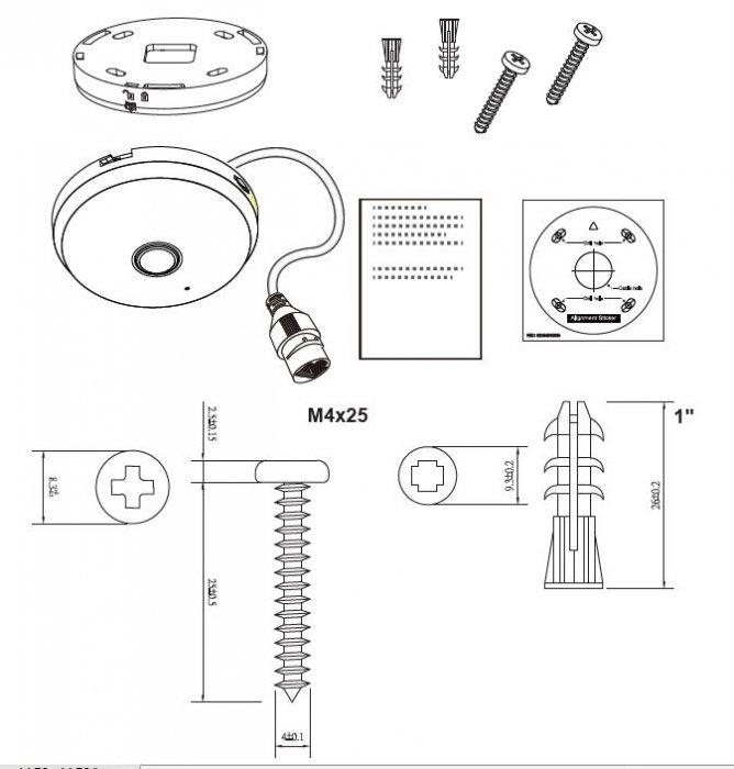 Vnitřní IP kamera VIVOTEK FE9180-H obsah balení