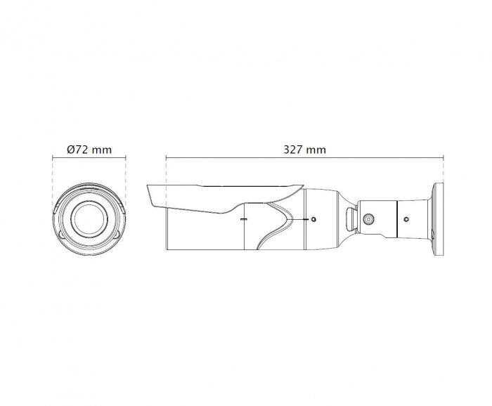 Venkovní IP kamera VIVOTEK IB8367A rozměry