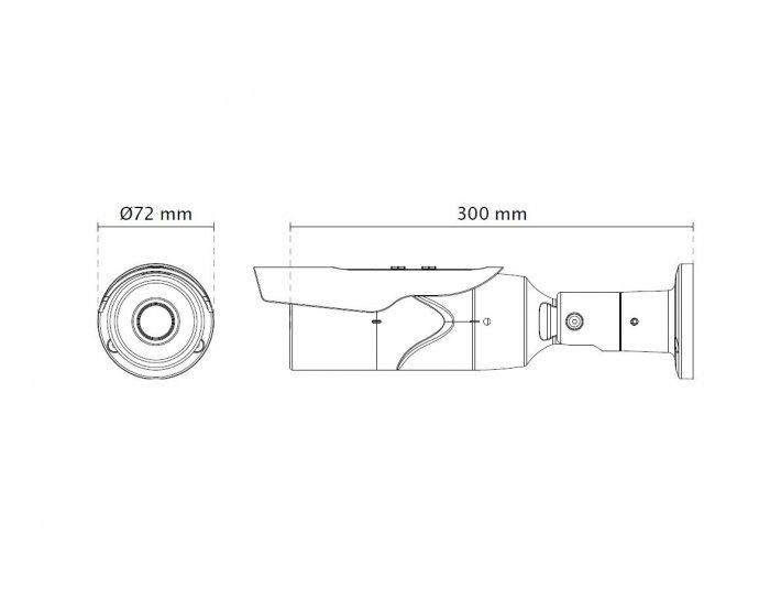 Venkovní IP kamera VIVOTEK IB8369A rozměry