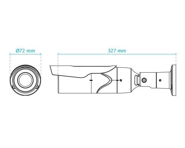 Venkovní IP kamera VIVOTEK IB8377-H rozměry