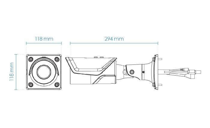 Venkovní IP kamera VIVOTEK IB8377-HT rozměry