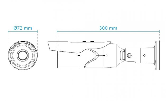 Venkovní IP kamera VIVOTEK IB8379-H rozměry