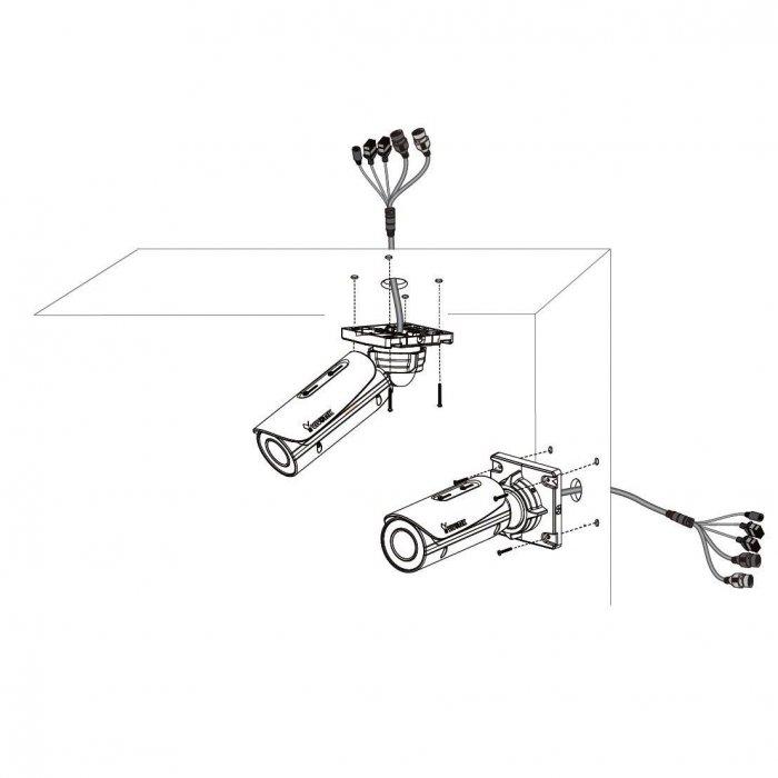 Venkovní IP kamera VIVOTEK IB8382-ET ukázka instalace