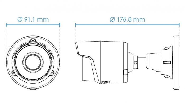 Venkovní IP kamera VIVOTEK IB9360-H rozměry