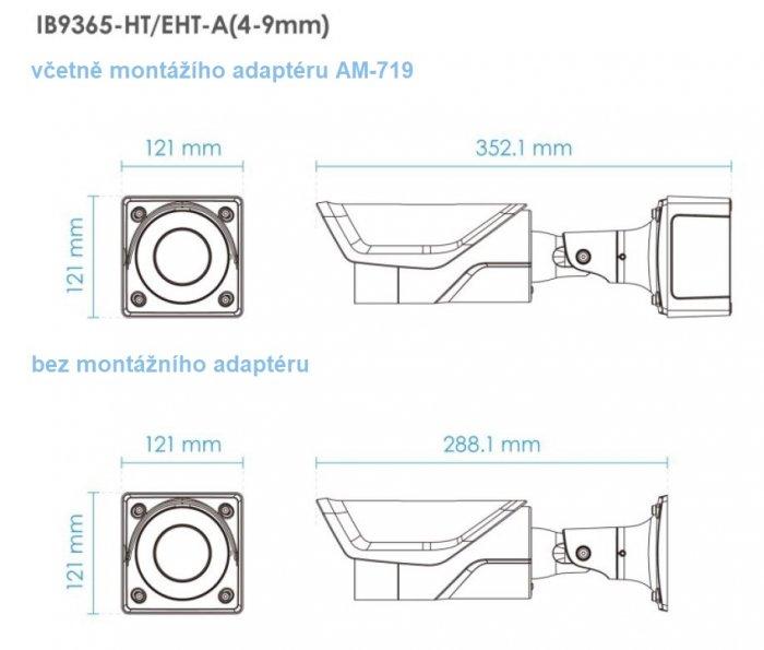 Venkovní IP kamera VIVOTEK IB9365-HT-A 6-9 mm rozměry