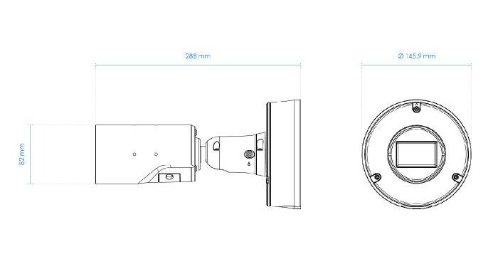 Venkovní IP kamera VIVOTEK IB9367-EHT-v2 rozměry