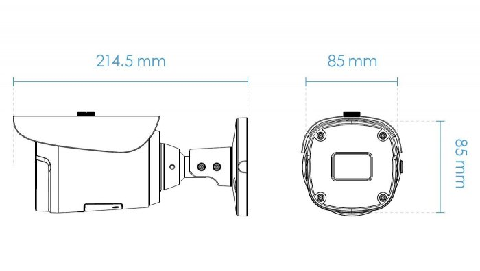 Venkovní IP kamera VIVOTEK IB9368-HT rozměry