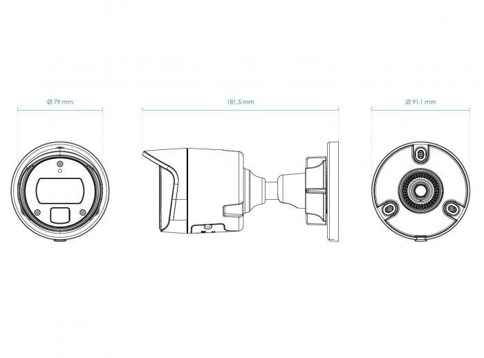 Venkovní IP kamera VIVOTEK IB9369-F2 rozměry