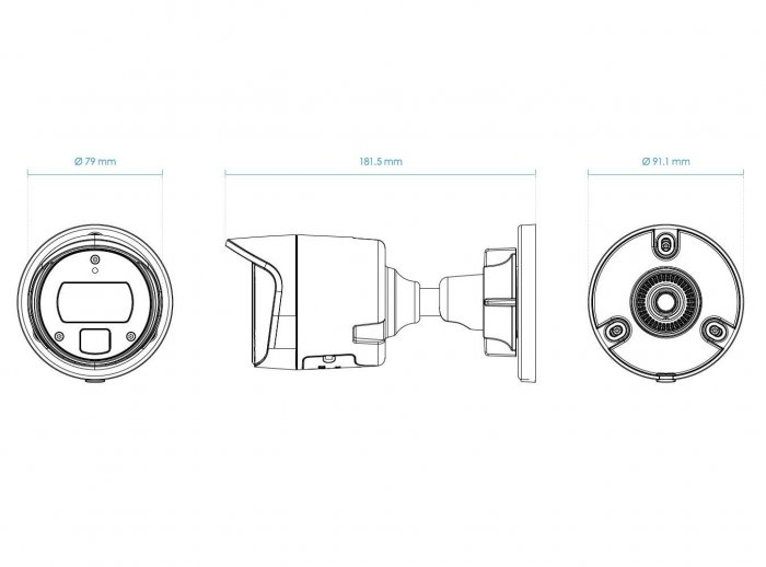 Venkovní IP kamera VIVOTEK IB9369-F3 rozměry