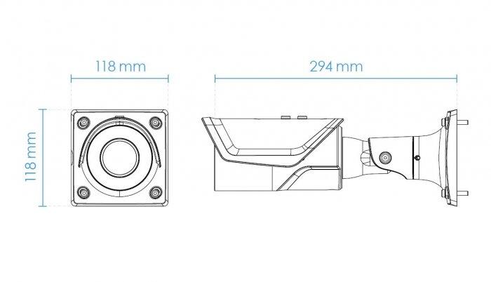 Venkovní IP kamera VIVOTEK IB9387-EHT rozměry