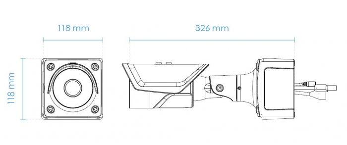 Venkovní IP kamera VIVOTEK IB9387-H rozměry