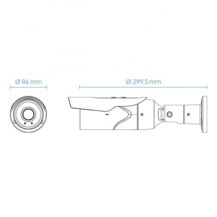 Venkovní IP kamera VIVOTEK IB9389-EH-v2 rozměry