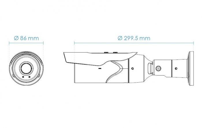 Venkovní IP kamera VIVOTEK IB9389-H rozměry