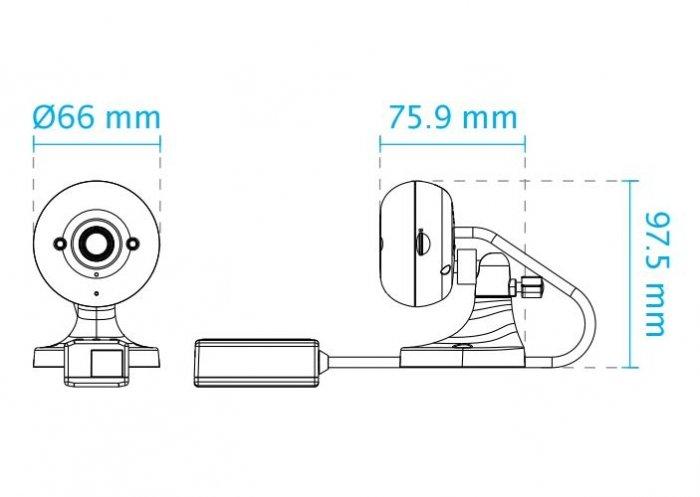 Vnitřní IP kamera VIVOTEK IP8160 rozměry